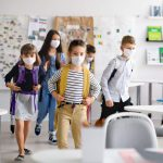 kids in masks for special education class