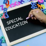 how to become a special education teacher in 4 steps written on chalk board
